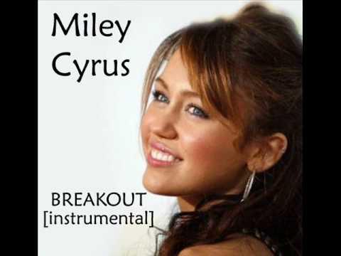 Miley Cyrus Breakout Official Instrumental/Karaoke + Lyrics HQ