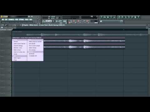 How to stretch samples/ chops tutorial FL Studio