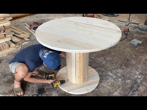 Amazing Creative Design Ideas Woodworking Project Cheap – Build A Outdoor Round Tables From Pallets