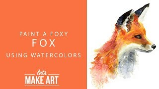 Https://www.letsmakeart.com - this week we are painting felix the fox! grab some salt, water, and your foxy fox kit to paint along! join us every f...