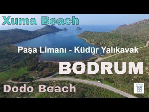 Bodrum Yalıkavak Küdür Koyu - Dodo Beach Club - Küdür Paşa Limanı Koyu (Dji Phantom 3 Şubat 2019)