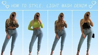 HOW TO STYLE LIGHT WASH DENIM │OUTFIT INSPO