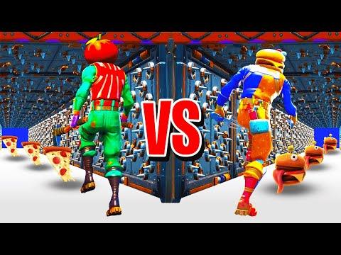 HAMBURGER VS PIZZA VS SUSHI DEATHRUN CON I MIEI AMICI! || Fortnite