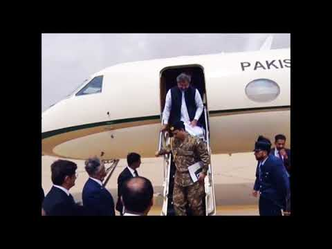Karachi : Prime Minister Shahid  Abbasi arrived at Karachi airport , VNS Pakistan