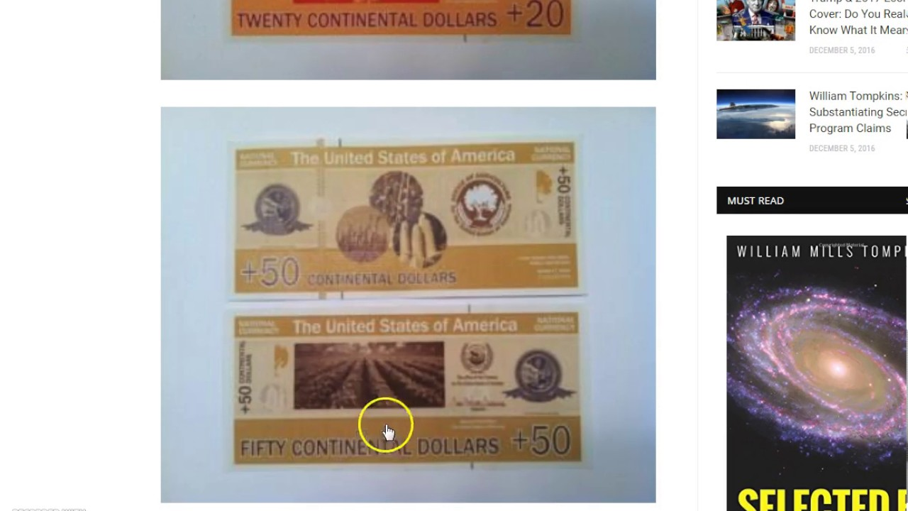 New Currency For The United States Republic Backed By Gold Ready Distribution