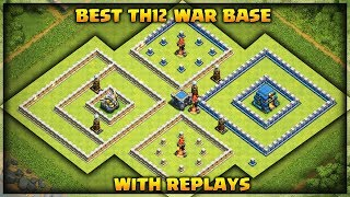 Best Th12 War Base With 3 Infernos and Replays | Anti electro drag | Clash of Clans