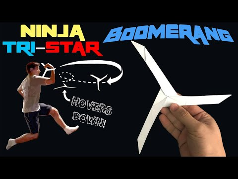 Amazing Ninja Tri-Star Boomerang! (Paper Toy Flies Back)