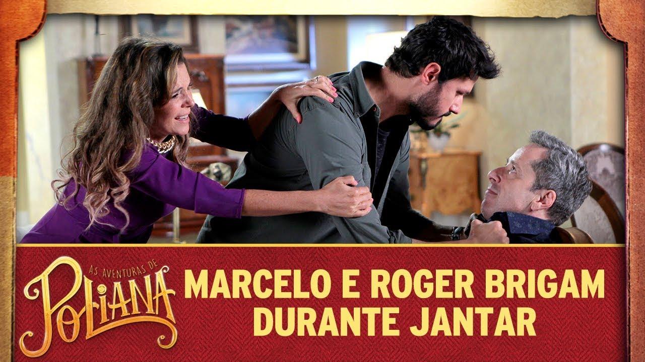 Marcelo e Roger brigam durante jantar | As Aventuras de Poliana