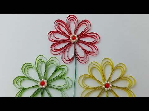 PAPER FLOWERS - How to Make Beautiful Flower with Color Paper | DIY Simple Home Decor - Paper Crafts