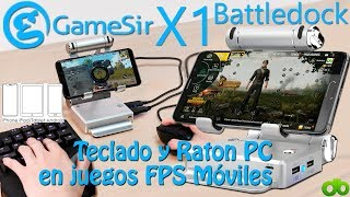 GameSir X1 BattleDock Juegos FPS Móviles con Teclado Ratón PC Tutorial Android PUBG Unboxing Review