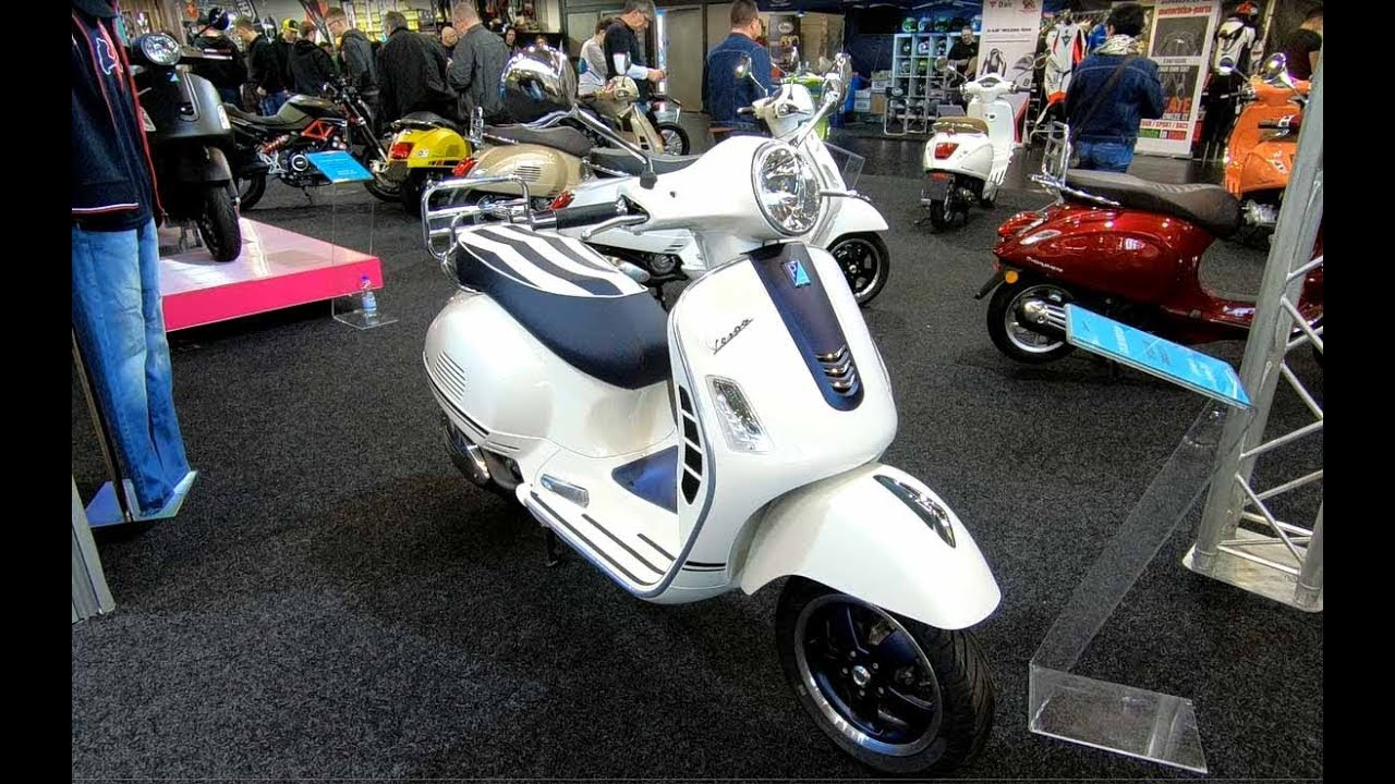 Vespa Gts 300 Yacht Club Abs Asr Scooter New Model 2018 Walkaround