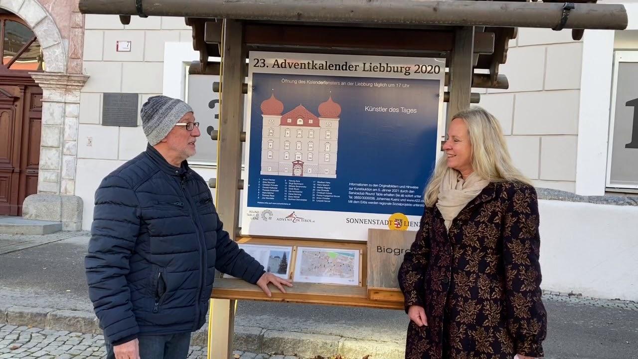Eröffnung des Adventkalender 2020 Anton Fercher