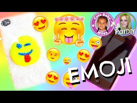 DIY Emoji Handyhülle aus Wolkenschleim – Smartphone cover selber machen | CuteBabyMiley