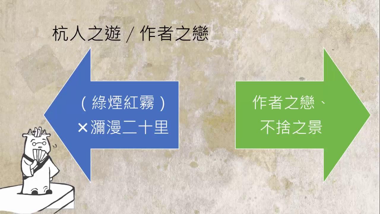高中國文 晚遊六橋待月記:內容深究 - YouTube