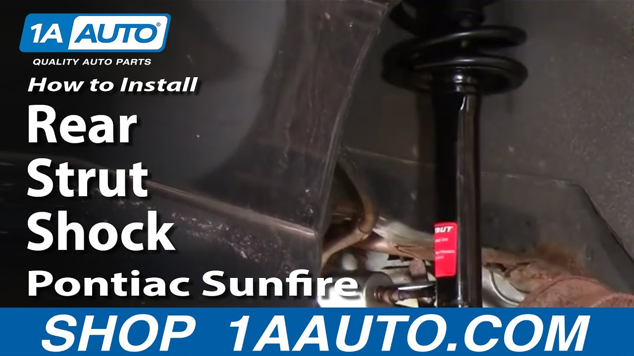 hight resolution of how to install rear strut shock chevy cavalier sunfire 95 05 1aauto com