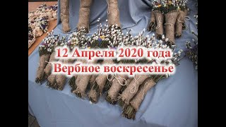 12 апреля 2020 год /Вербное воскресенье