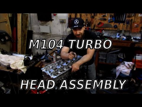 My Mercedes M104 turbo head assembly | Building the head and mount it to the block + turbo manifold