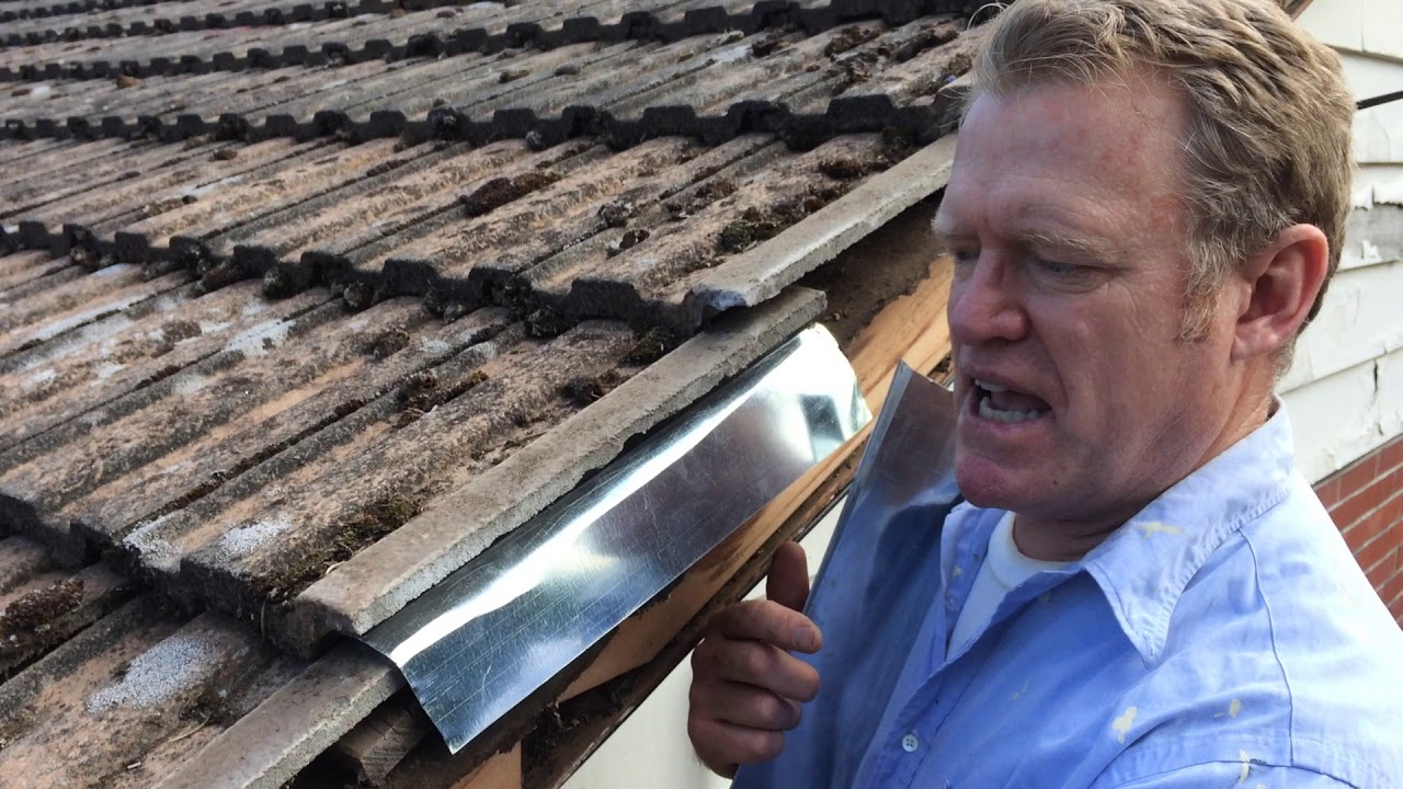 Roof Edge Repair With Flashing Youtube