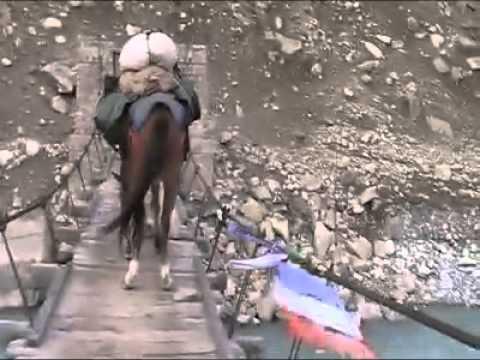 Petit pont du Zanskar avant le passage du Shingu La