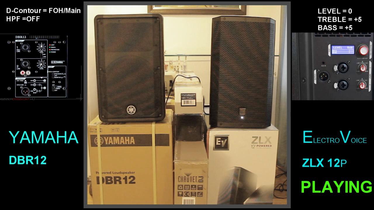 YAMAHA DBR12 & EV ZLX12P