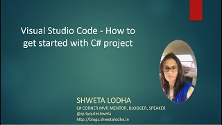 Visual Studio Code - How to get started with C# project