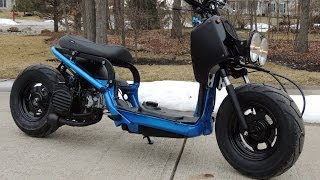 Custom Honda Ruckus Project...Time-lapse video.