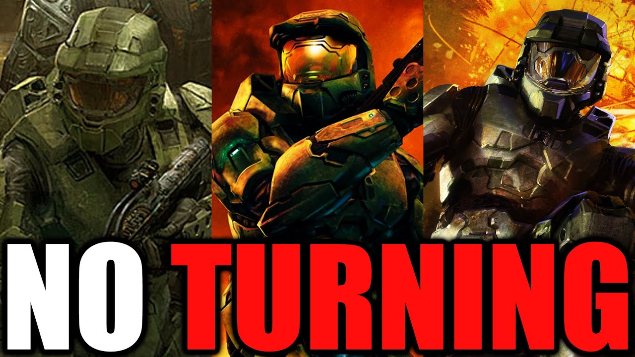 Beating Halo 2 WITHOUT TURNING? (Halo 2 No Turn)