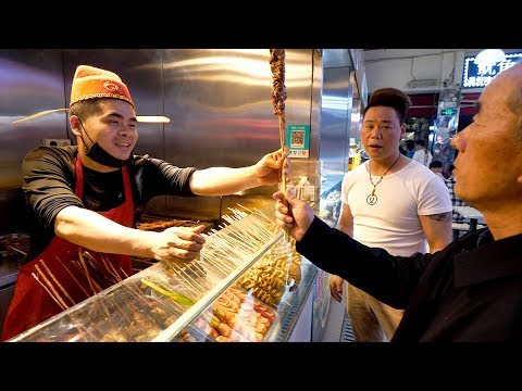 Chinese STREET FOOD Tour of Hefang Street + Wushan Night Mar