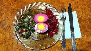 Маринованные яйца.  Два рецепта легких закусок.Вкусные рецепты из доступных продуктов.