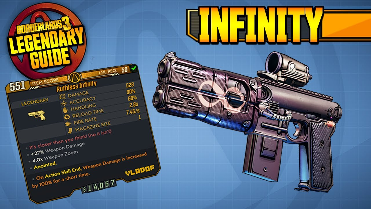 INFINITY PISTOL - Legendary Item Guide [Borderlands 3] thumbnail