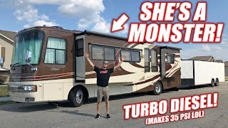 Download We Bought a GIANT RV! Her Name is Monica, She Loves Boost! *Full Tour* Mp3 and Videos