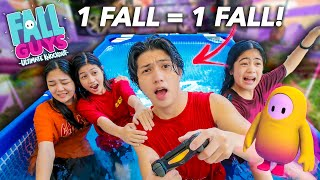 1 FALL = 1 FALL In The Swimming Pool!! (Siblings Plays Fall Guys) | Ranz and Niana