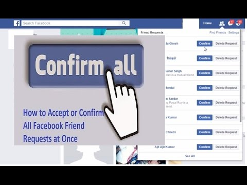One-Click Accept All Facebook Friend Request | HINDI