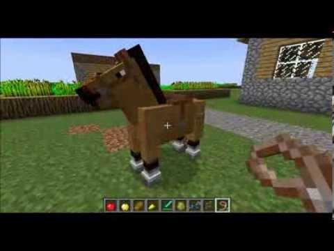 Как привязать коня в майнкрафт