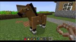 как приручить и оседлать лошадь в  minecraft 1.7.4, 1.7.2, 1.6.2