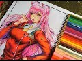 Speed Drawing - Zero two | Darling In The FranXX