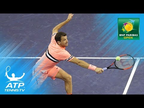Del Potro and Dimitrov team up for doubles against Lopez/Lopez   Indian Wells 2018
