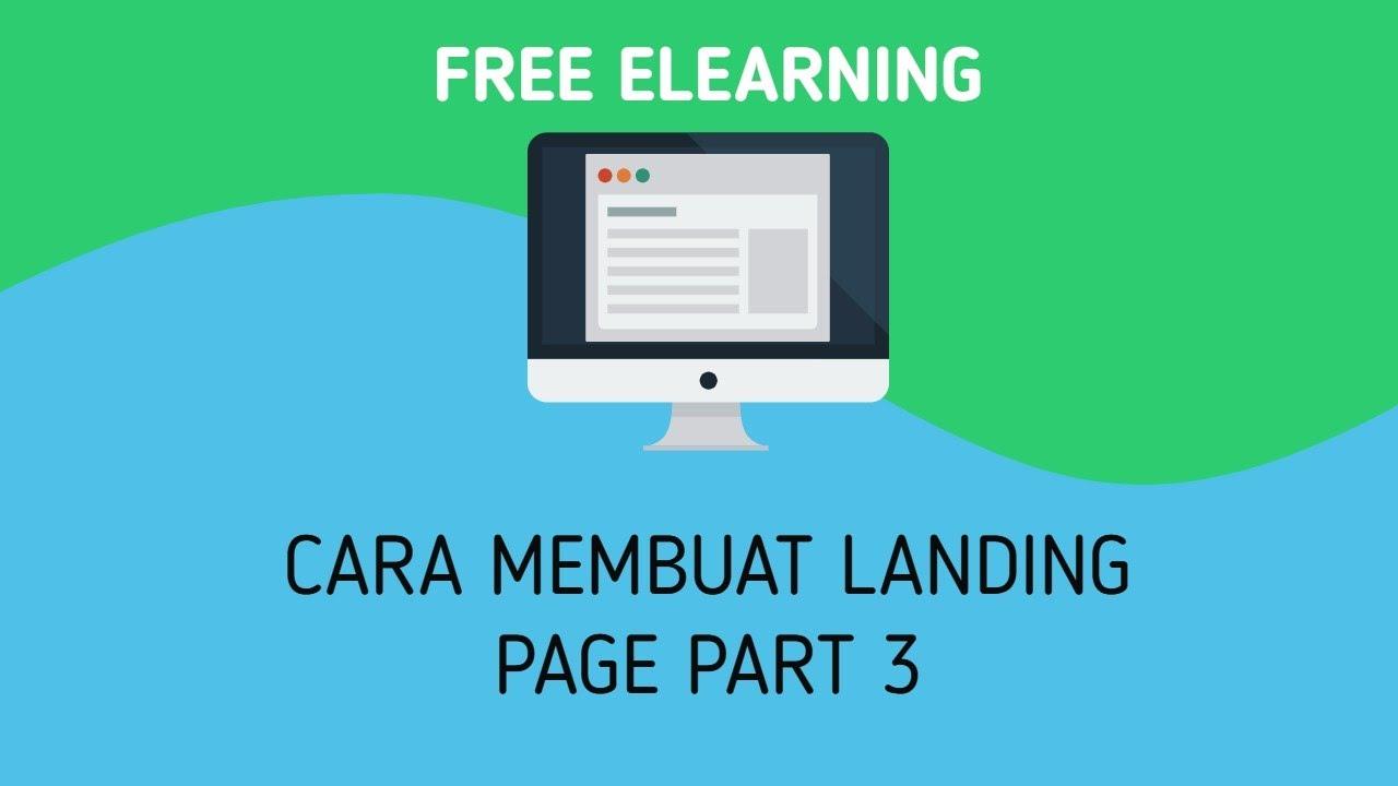 3. Lanjutan Cara Membuat Landing Page Sederhana - YouTube