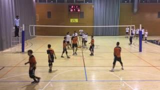 Primer partido del equipo de Panteres Volley Masculí federado