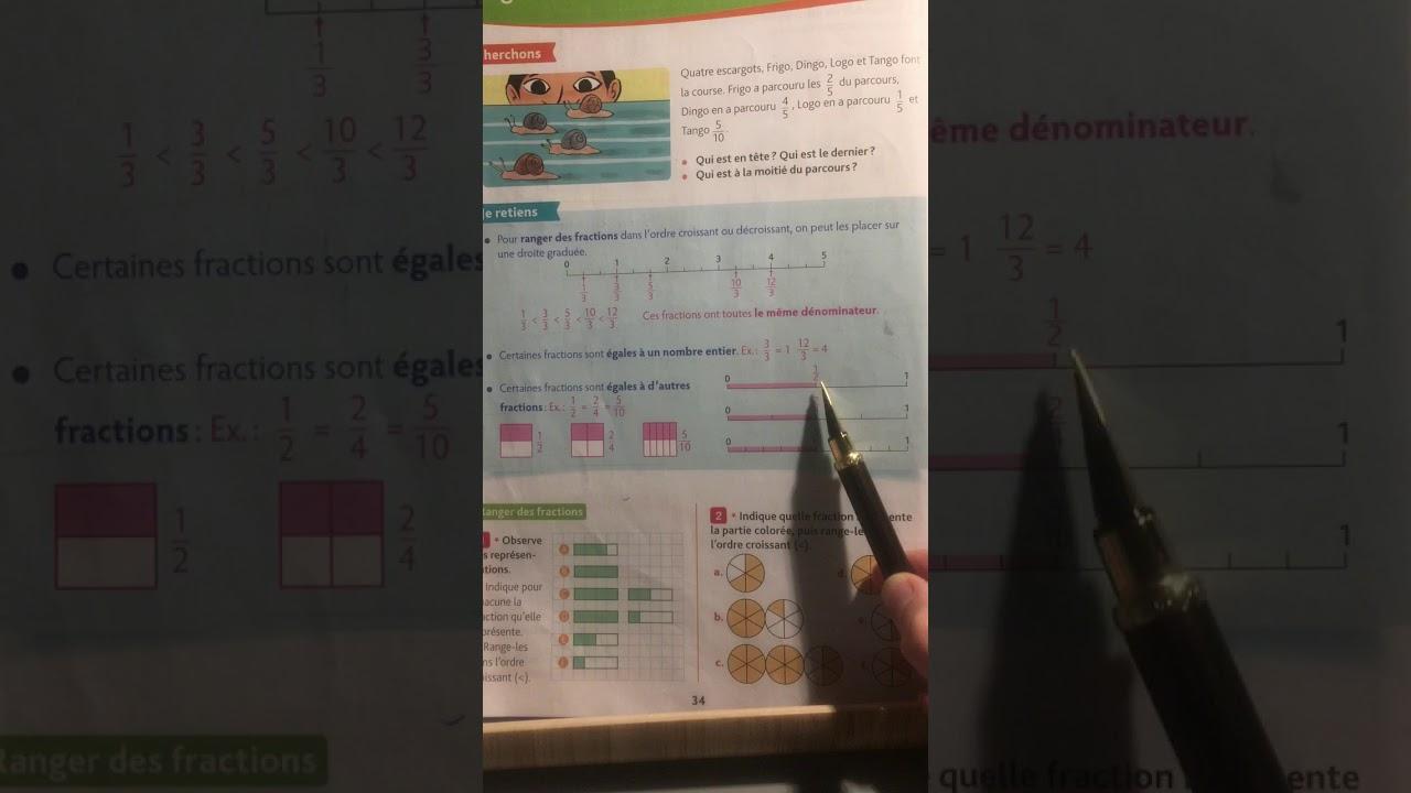 Ranger des fractions OPM p 34