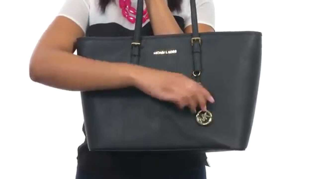 6d84c3732a27 MICHAEL Michael Kors Jet Set Travel Medium Top Zip Mult Funt Tote  SKU:8575537 - YouTube