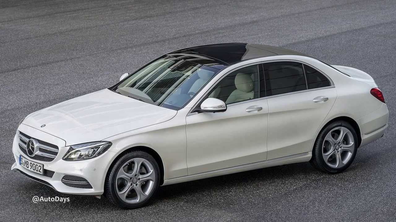 2015 mercedes benz c class blue and white