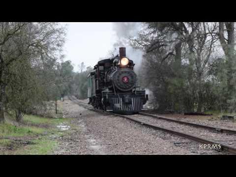 Sierra Railway No. 3 Film Shoot in February 2017