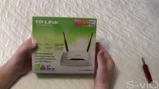 Обзор распаковка маршрутизатор Роутер TP LINK TL WR841N 2 антенны