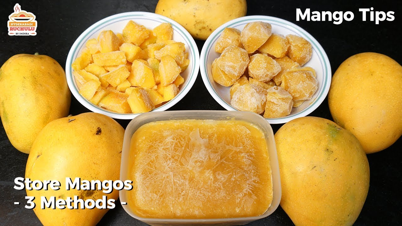 How To Store Mangoes For Long Time Mango Storage Tips How To Freeze Mango Youtube
