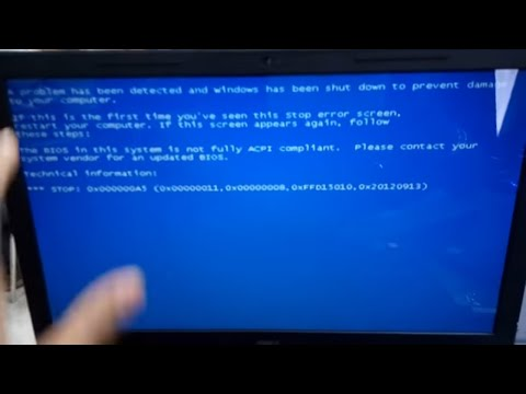 The BIOS in this system is not fully ACPI compliant.