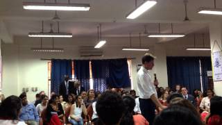 Nick Clegg at the Maitreyi College