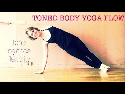 45 min Toned Body Yoga Flow WorkOut #1 | Tone, Balance, Flexibility | Half Moon