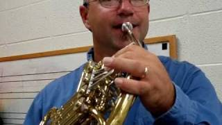 How to Hold the French Horn and play the note A