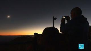 Así se vio el eclipse total de sol en Chile